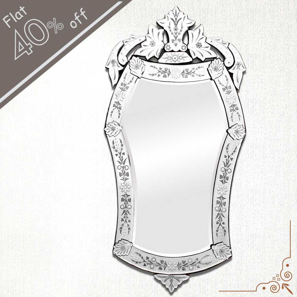 Oval Venetian Mirror-50 inches X 26.5 inches