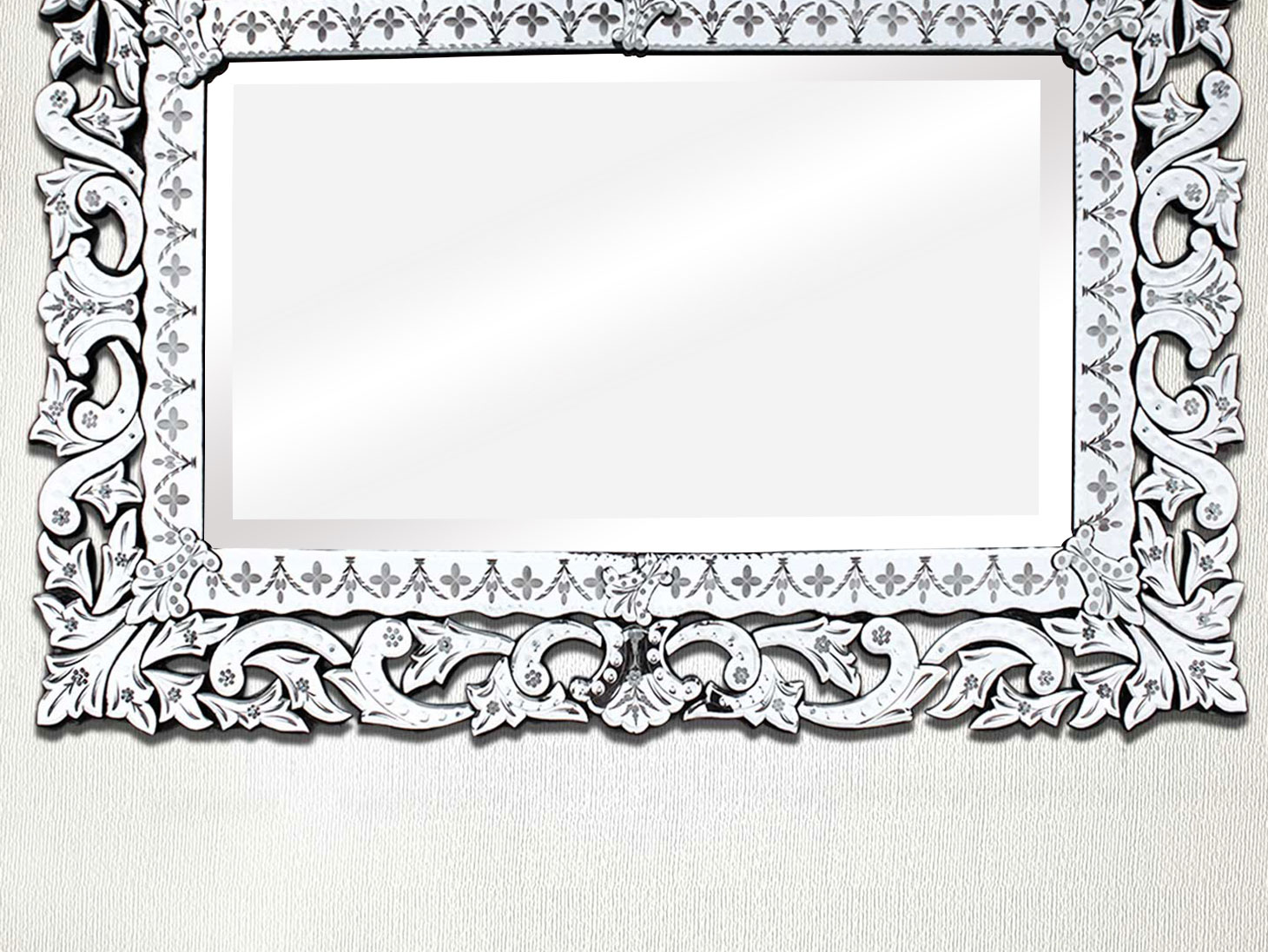 Over mantle Venetian Mirror-48.5 inches X 57.5 inches