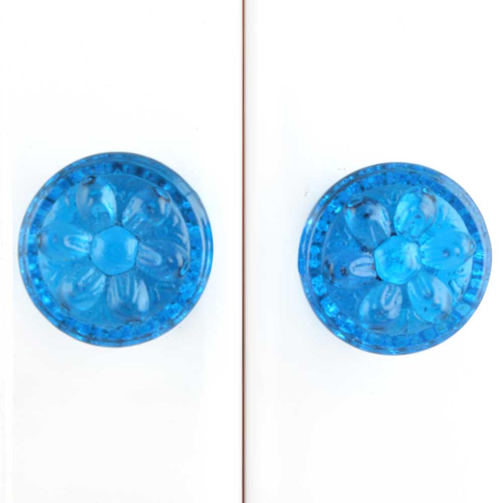 Royal Blue Power Drum Glass Drawer Knob Online