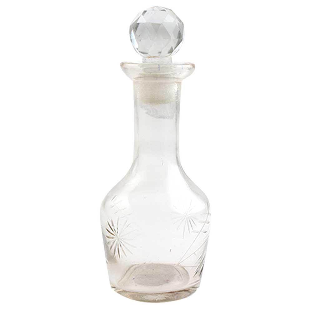 Goblet Leaf Flower Glass Bottle