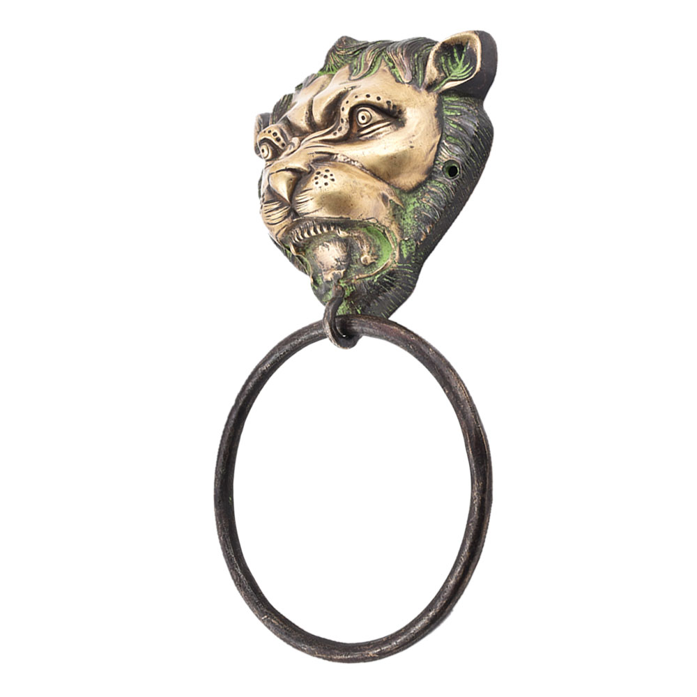 Brass Lion Head Towel Holder