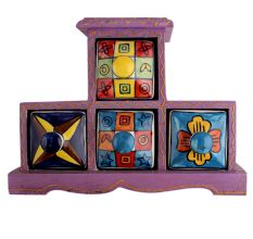 Spice Box-755 Masala Rack Container Gift Item