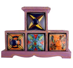 Spice Box-758 Masala Rack Container Gift Item