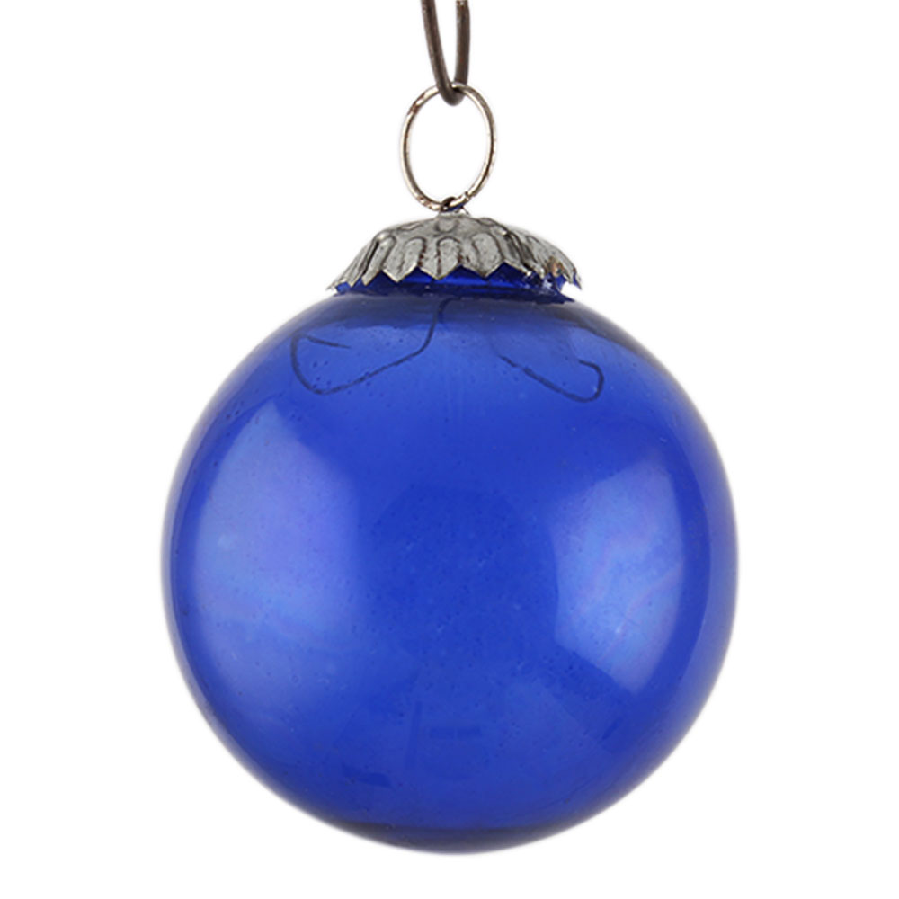 Navy Blue Round Christmas Hanging Online