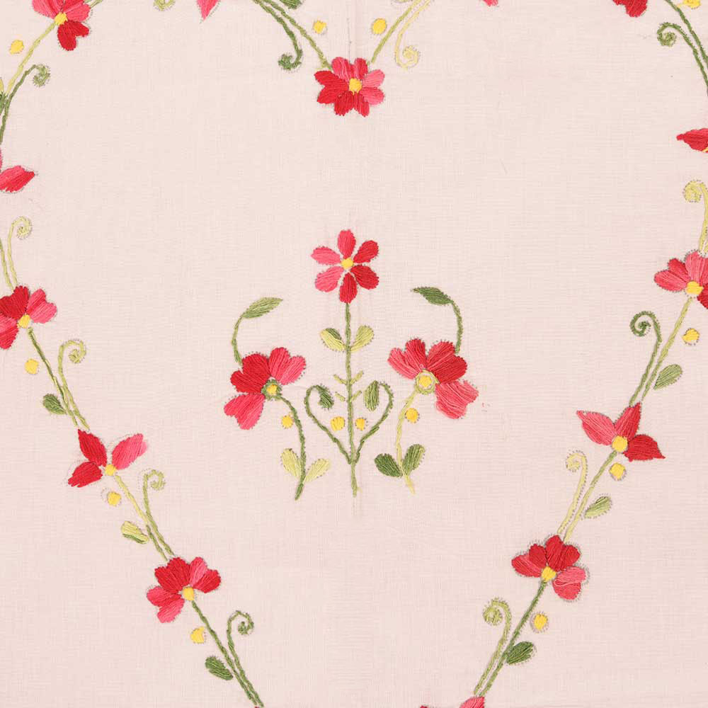 Misty Rose Cotton Double Bedsheet