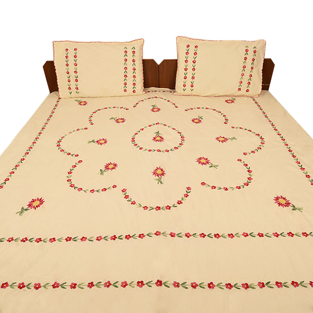 Champagne Cotton Double Bedsheet
