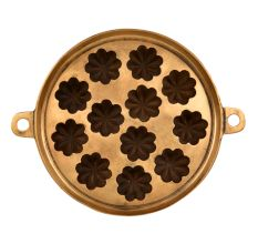 Bronze Circular�Flower Shaped Appe Mould