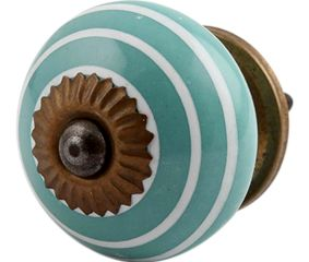 Sea Green White Knob