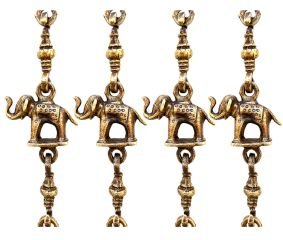 Elephant And Peacock Metal Swing Chain