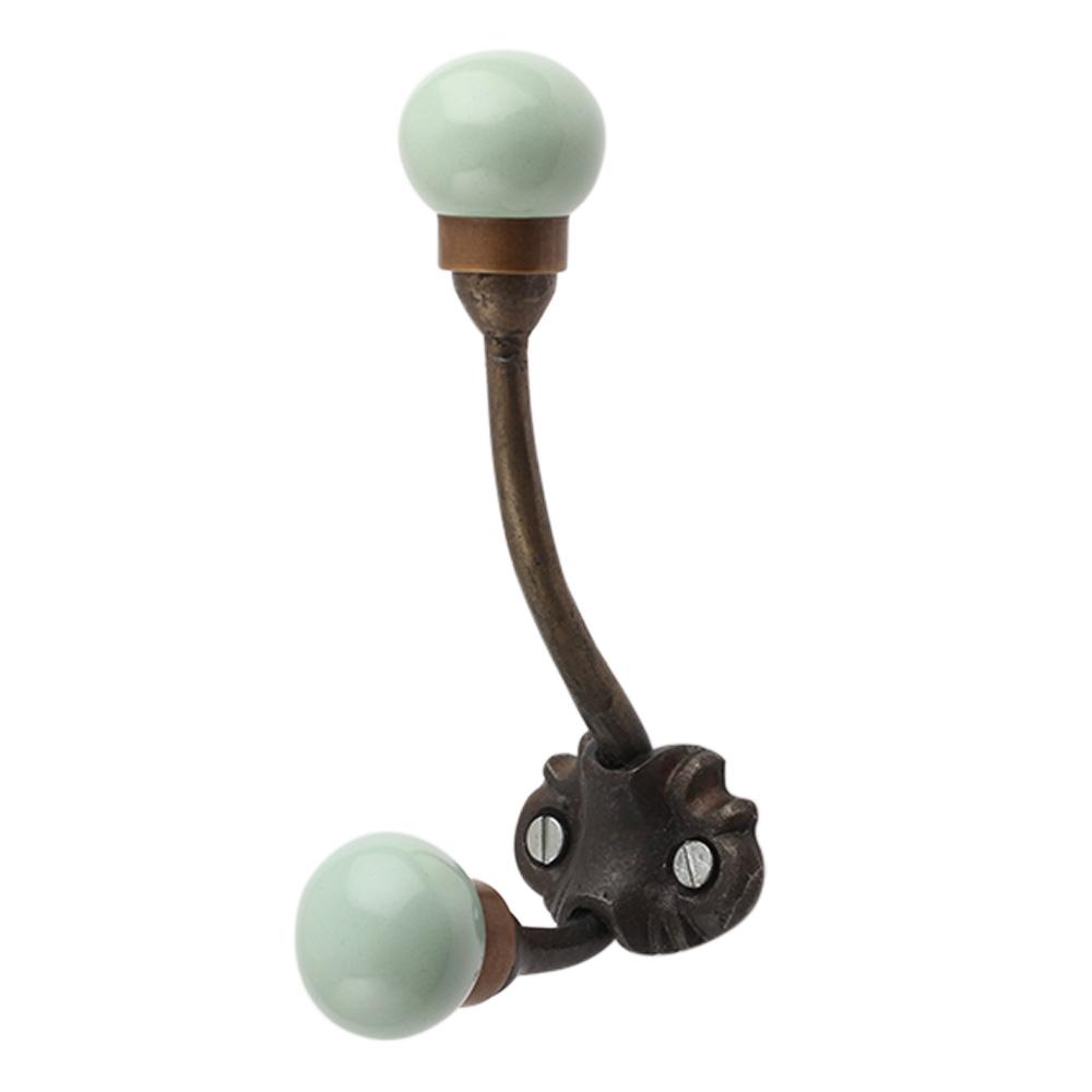 Sage Green Ceramic Iron Hooks-EHG-91