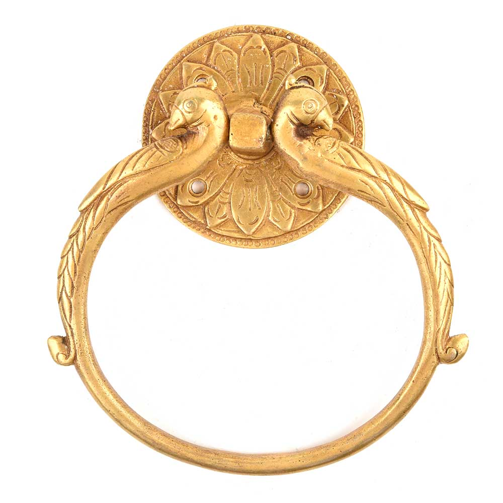 Brass Peacock Shape Towel Ring/Door Handle
