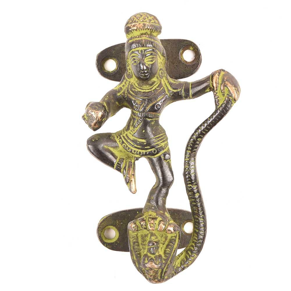 Indian Krishna Brass Door Handles