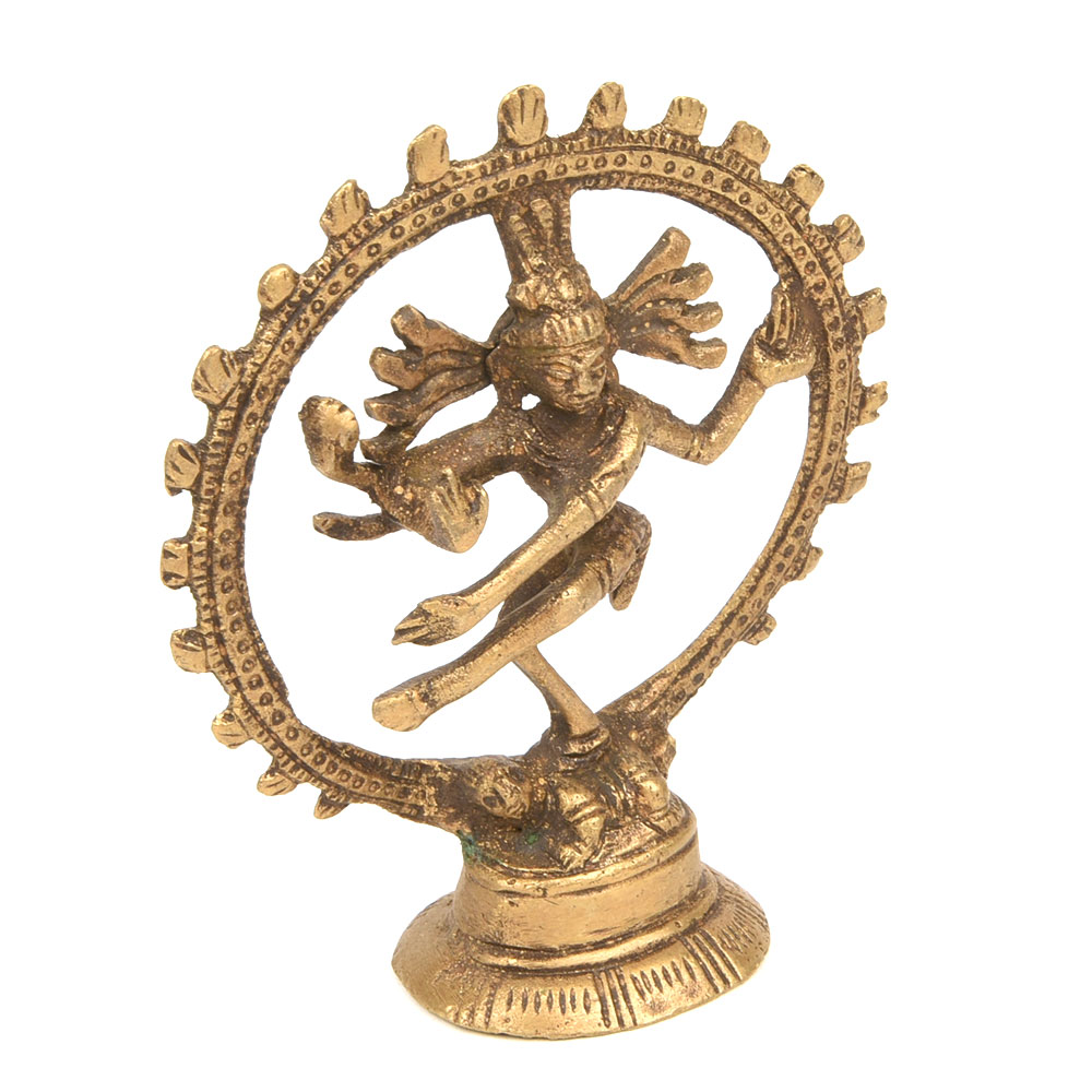 God Shiva Nataraj Polished Brass Statue