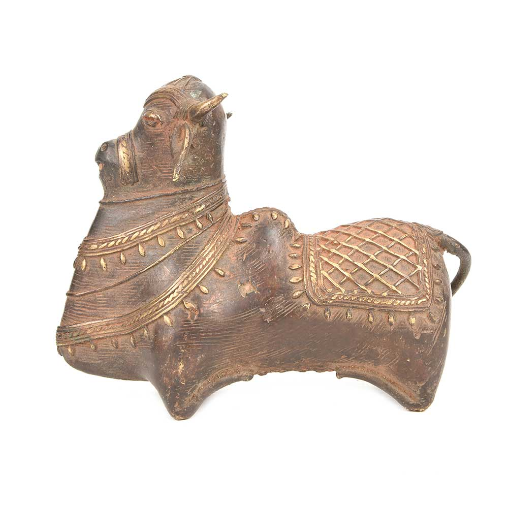 Brass Metal Decor of Nandi Bull