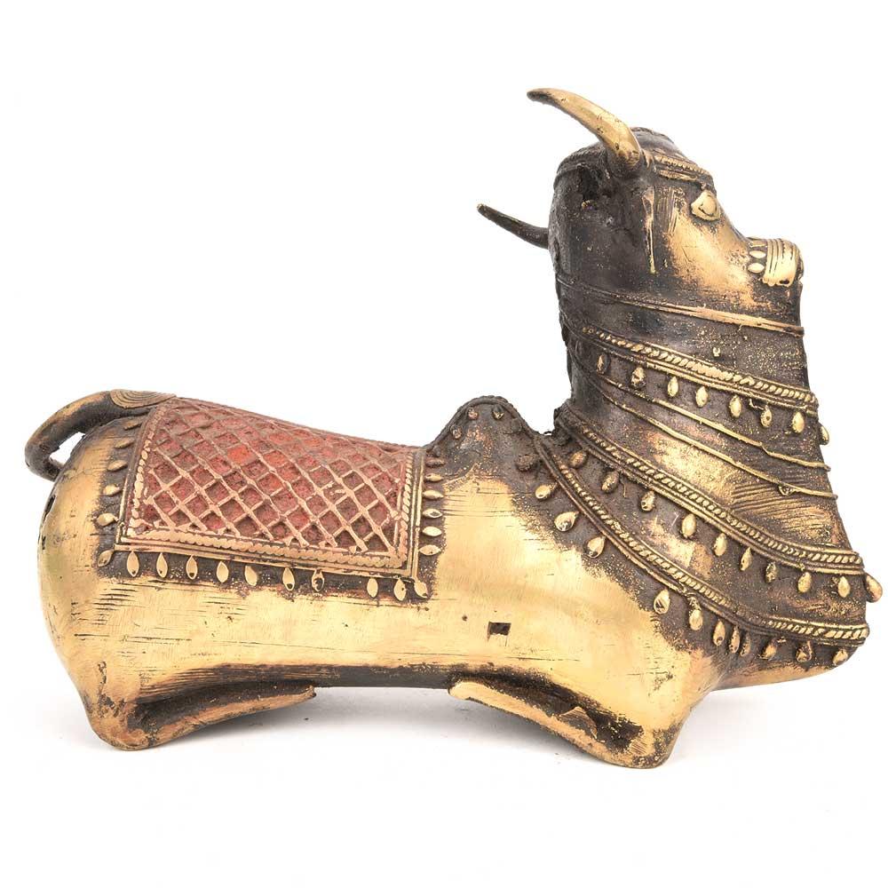 Nandi Bull (Ox of Shiva) Brass Statue Carrier
