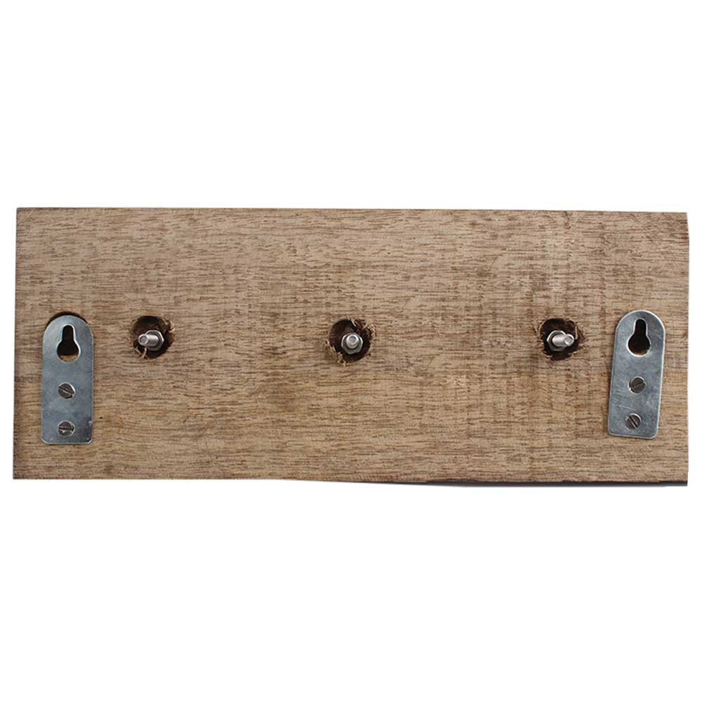 Red Dahlia Ceramic Wooden Hooks