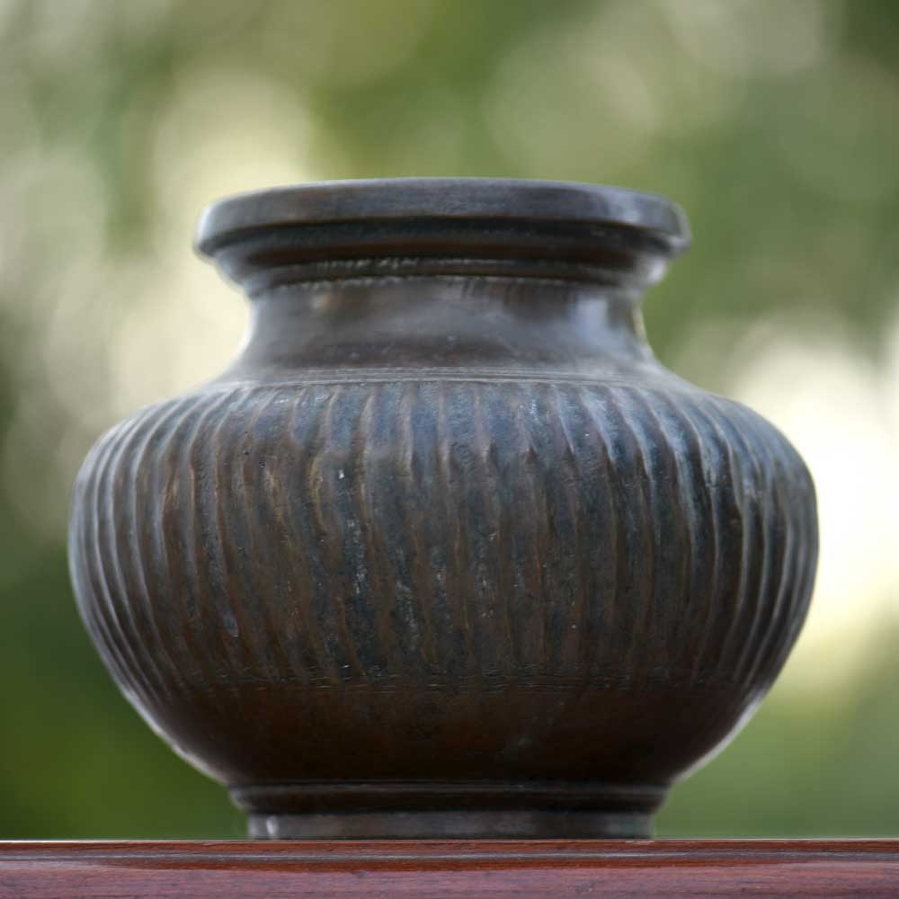 Brass Muskmelon Shape Water Pot