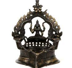 Hindu Bronze Ethnic Oil Lamp