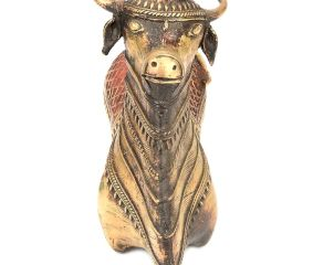 Sitting Bull Handmade Dhokra Art in Brass