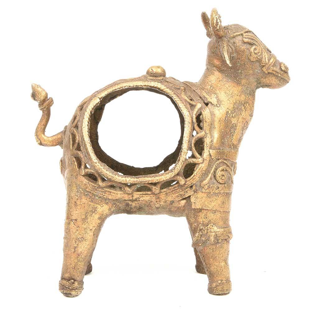 Handmade Brass Farm Animal Napkin Holder