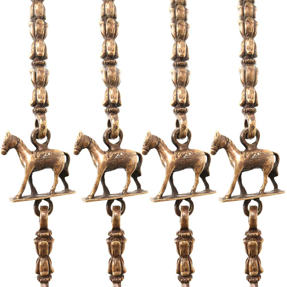 Brass Swing Chain Set With Handmade Statue (Set Of 4 Piece)