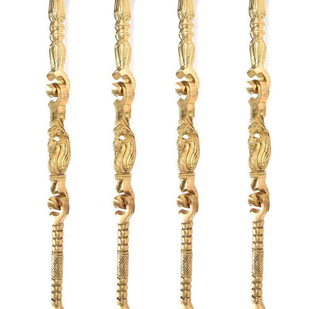 Brass Handicraft Swing Chain (Set Of 4 Piece)