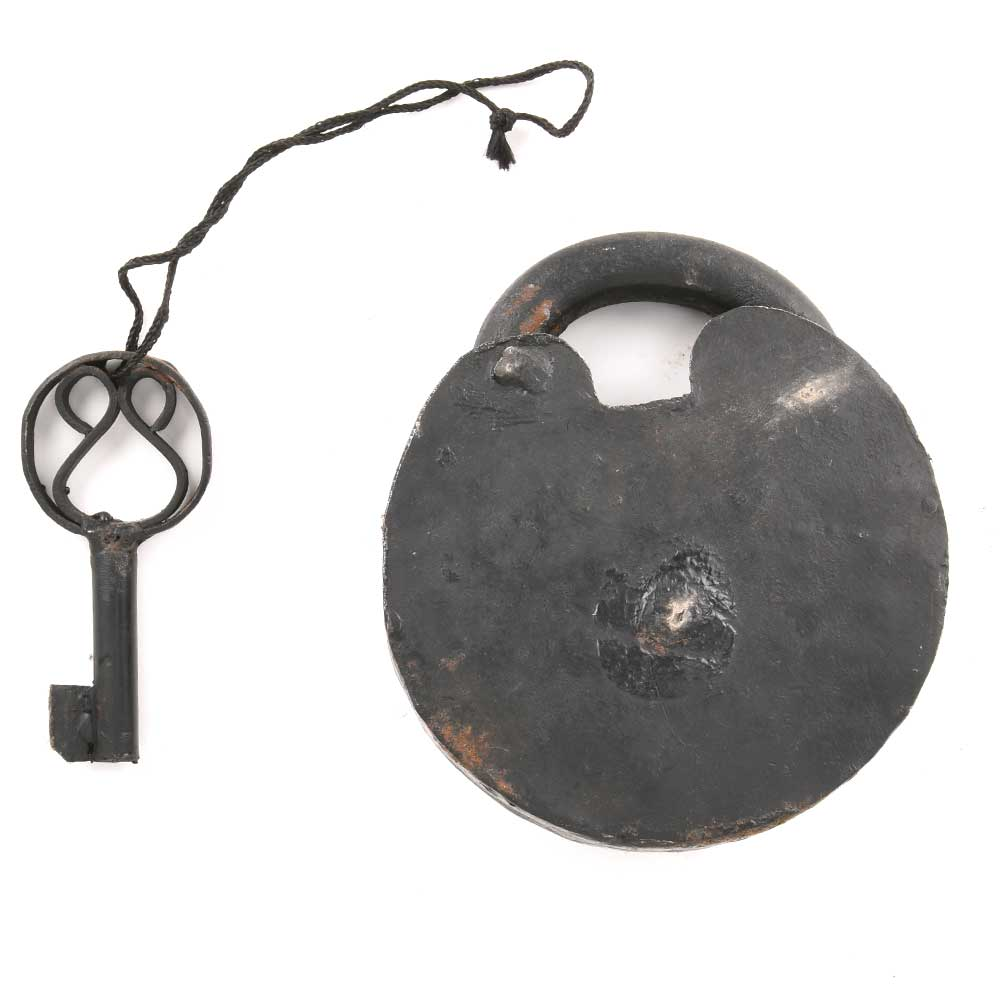 Old Indian Padlock Iron Hand Crafted Key Lock
