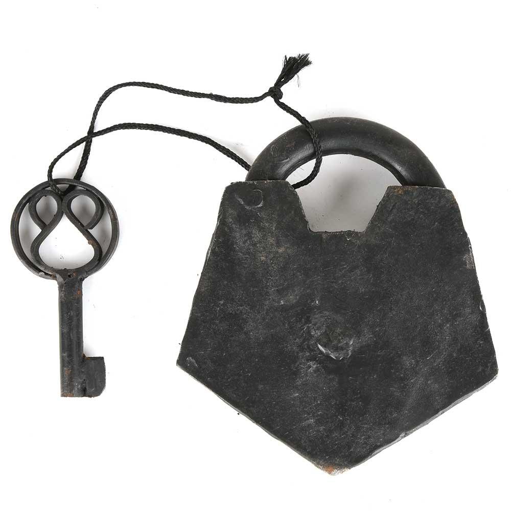 Indian Old Iron Hand Handmade Lock & Key Working