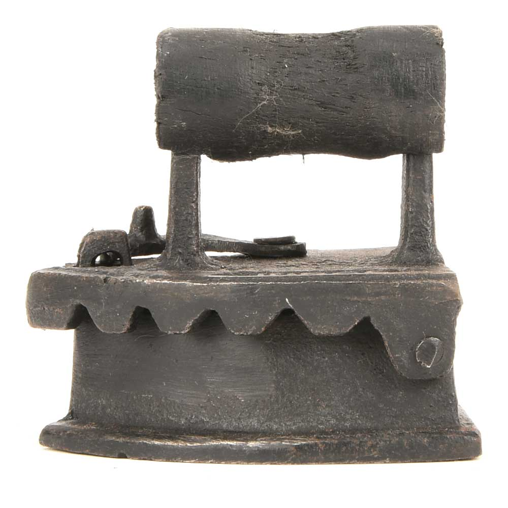 Old Rustic Iron on the Hot Coal Used To Iron Clothes