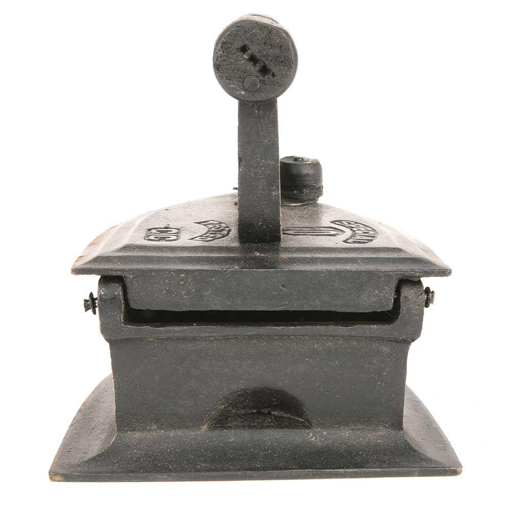 Heavy Iron Metal Coal Handle Clothes Iron Home Decor