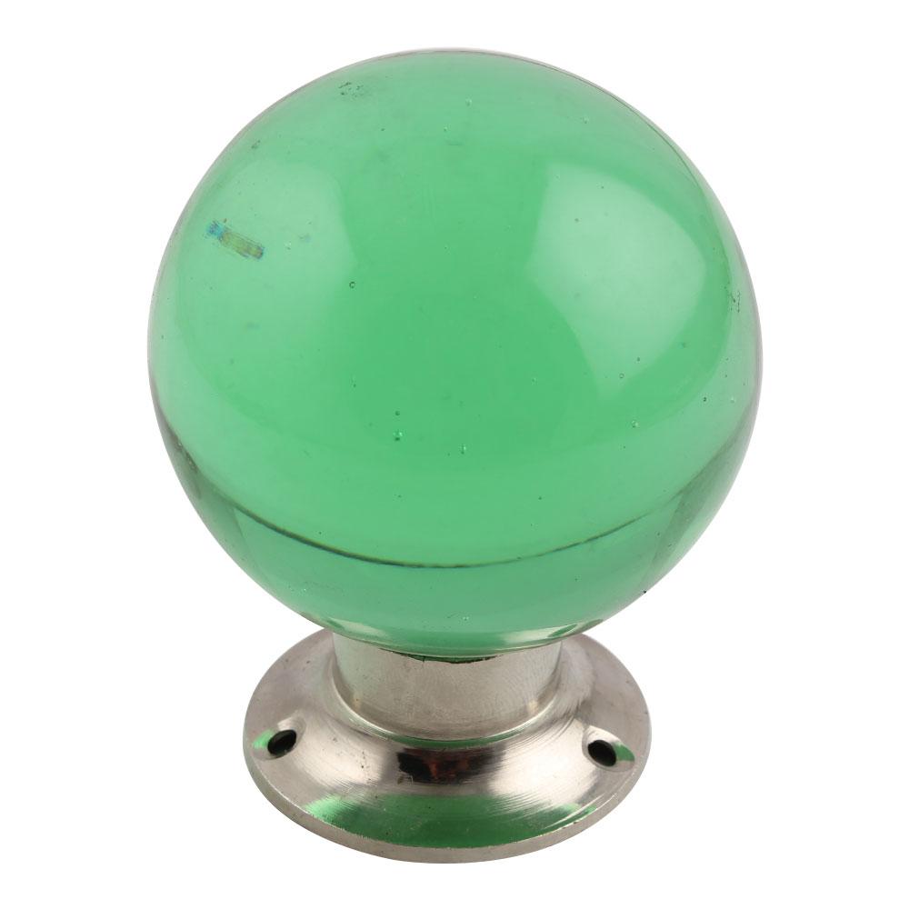 Green Big Glass Drawer Knobs