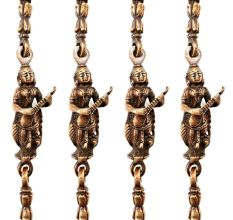 Swing Chain Set Of Brass Metal With Statue Link (Set Of 4 Piece)