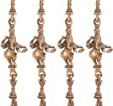 Swing Chain With Animal Figure Brass Metal Made (Set Of 4 Piece)