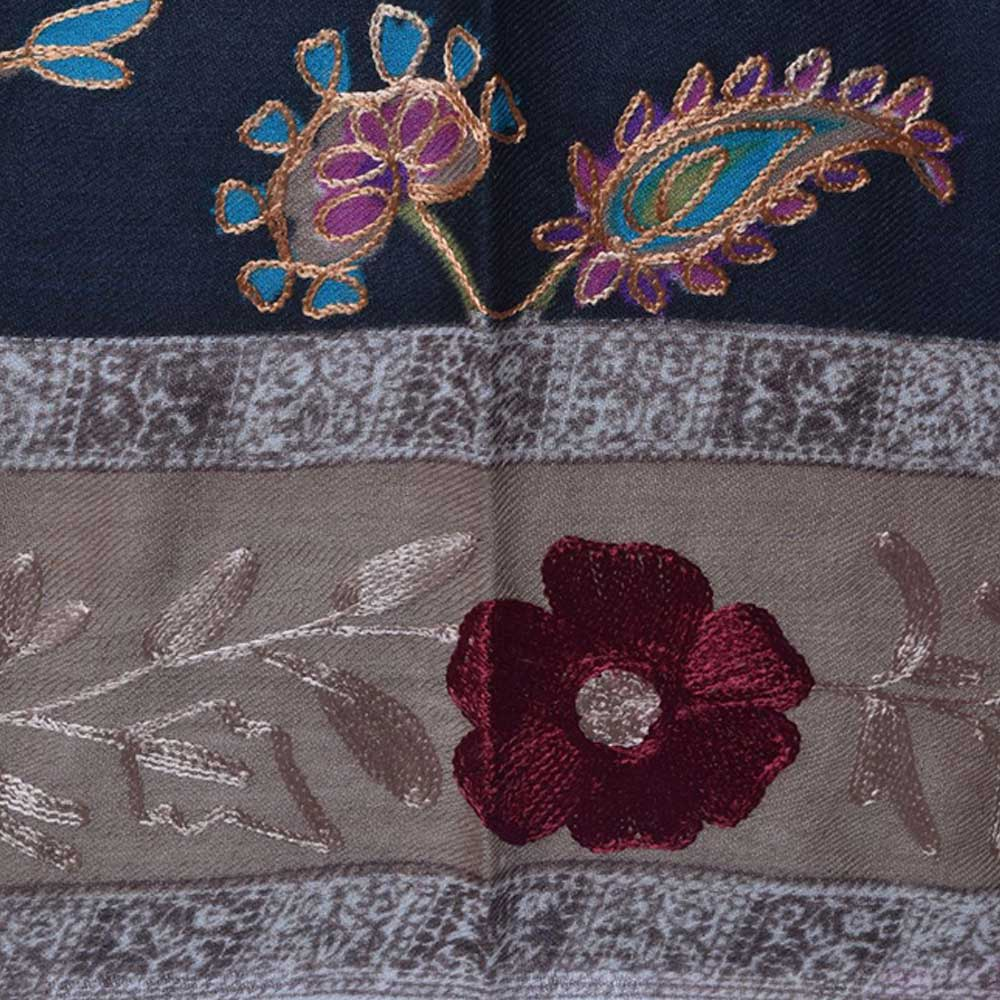 KalamkariAri Work Semi Pashmina Shawls 1
