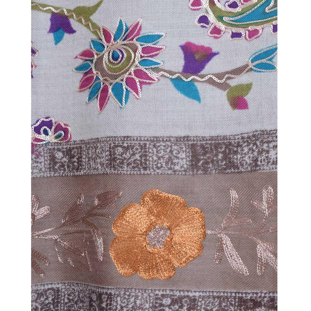 KalamkariAri Work Semi Pashmina Shawls 2