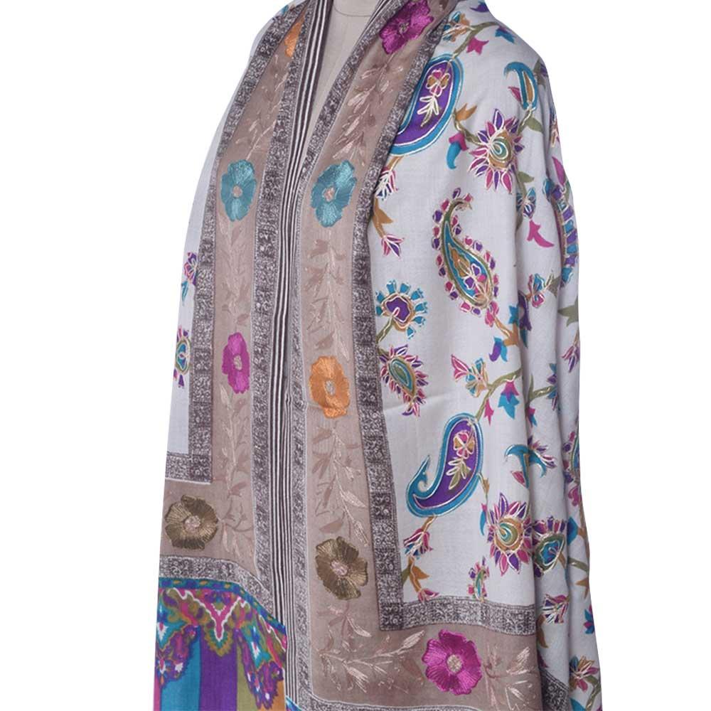 KalamkariAri Work Semi Pashmina Shawls 4