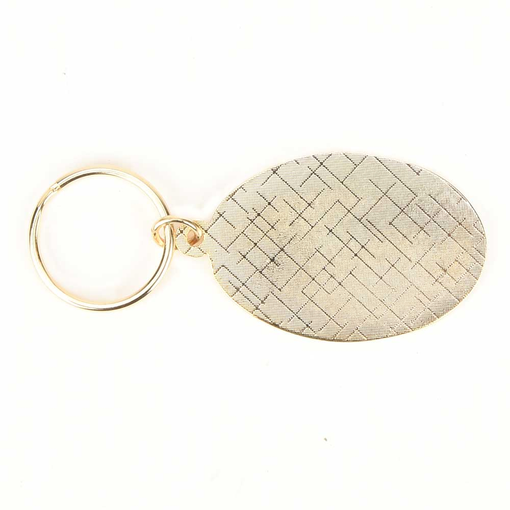 Brass Green Cactus In Spherical Shaped Orange Pale Pink Key Chain