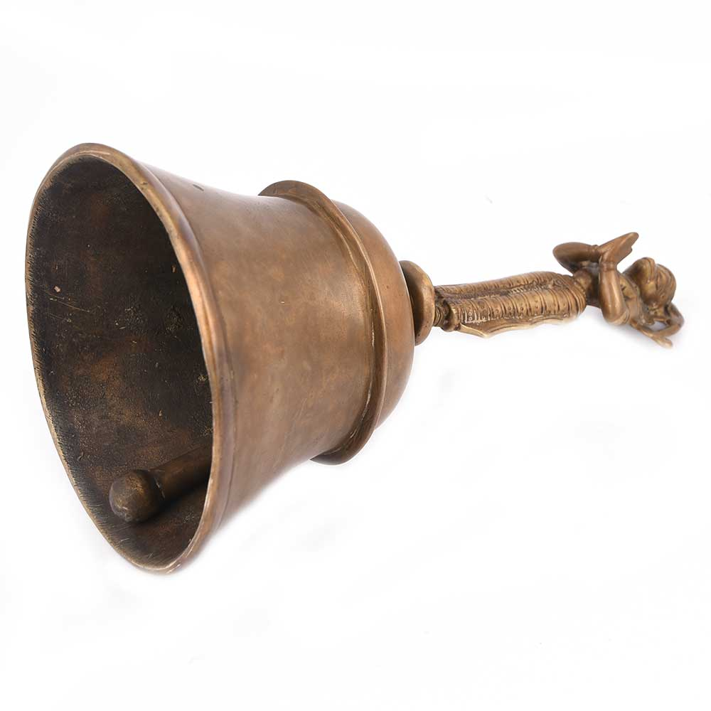 Old Brass Bell on Tip with Garuda
