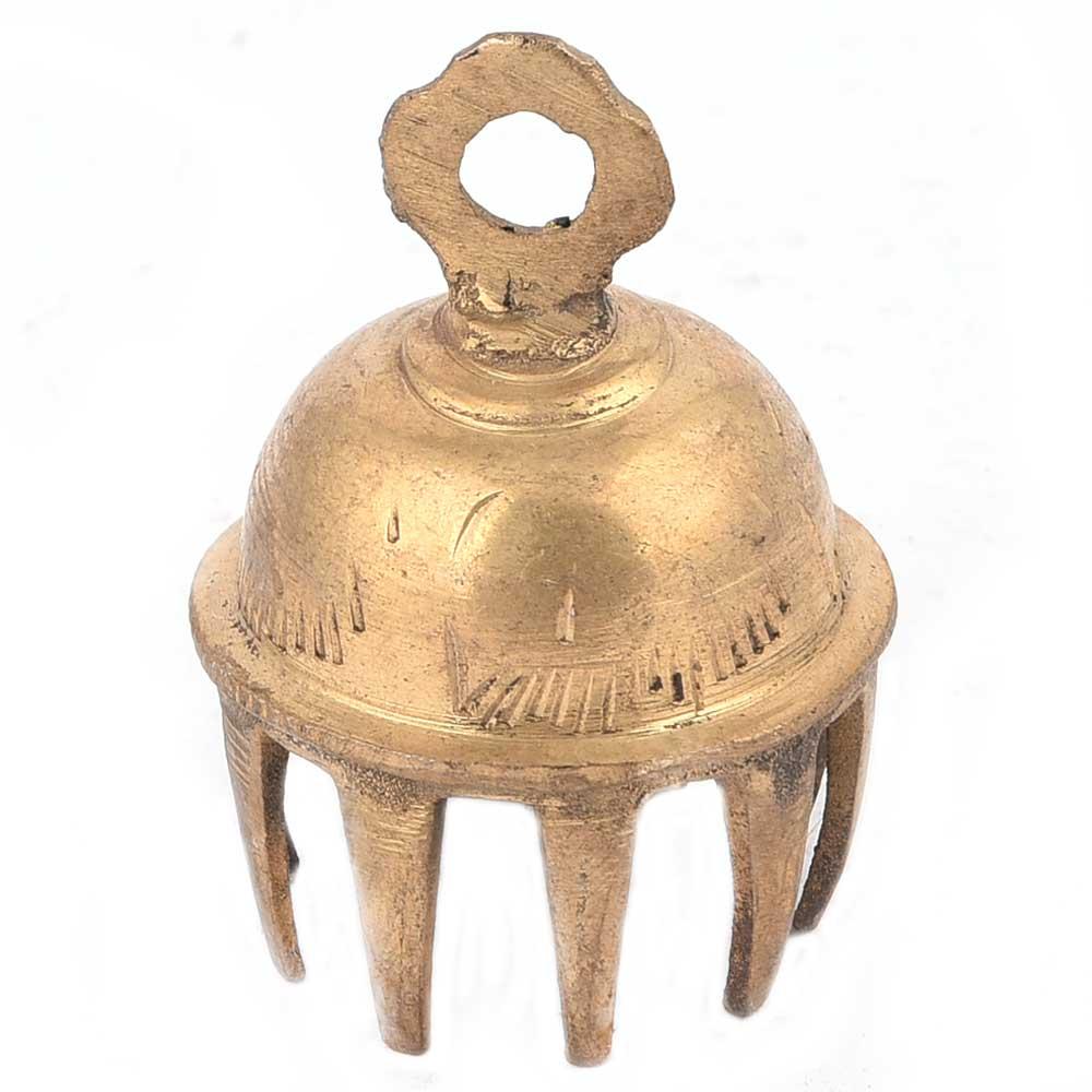 Golden Brass Elephant Bell