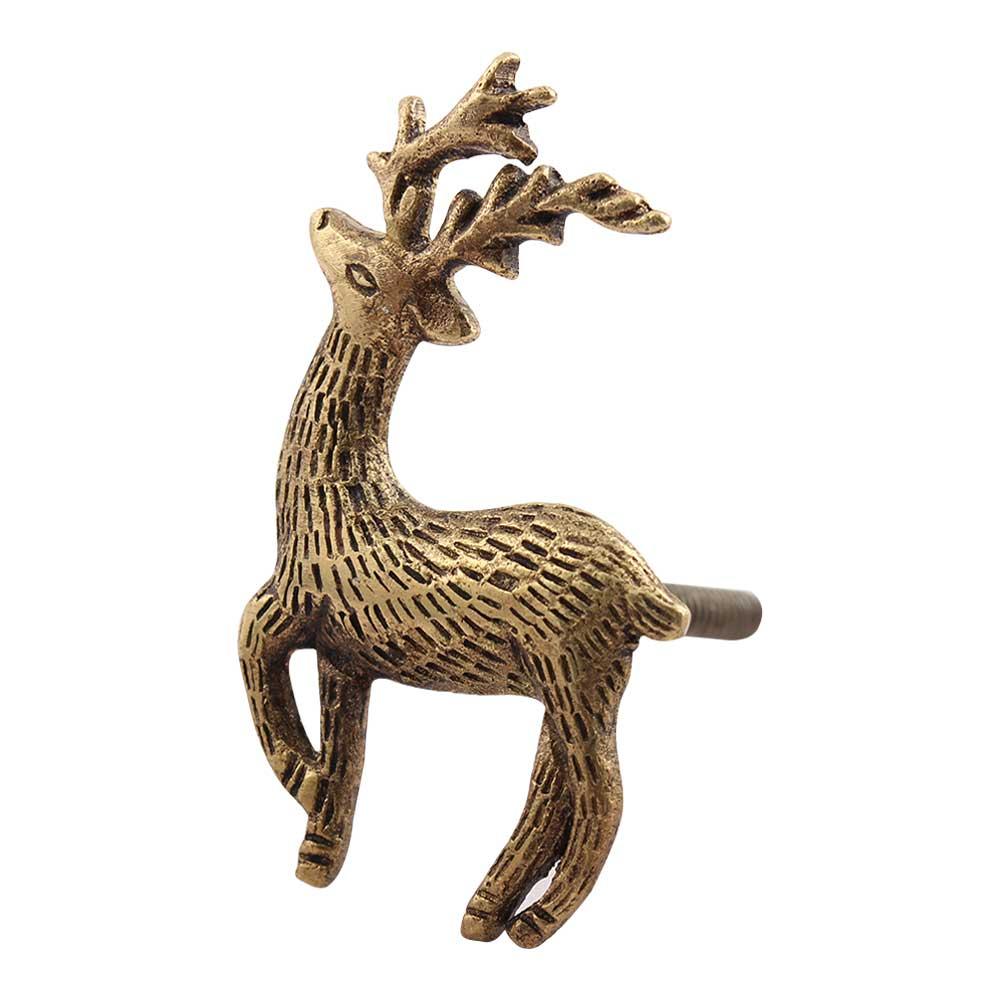 Golden Swamp Deer Brass Drawer Knobs
