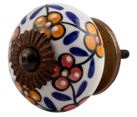 Mustard Red Tiny Ceramic Dresser Knobs Online