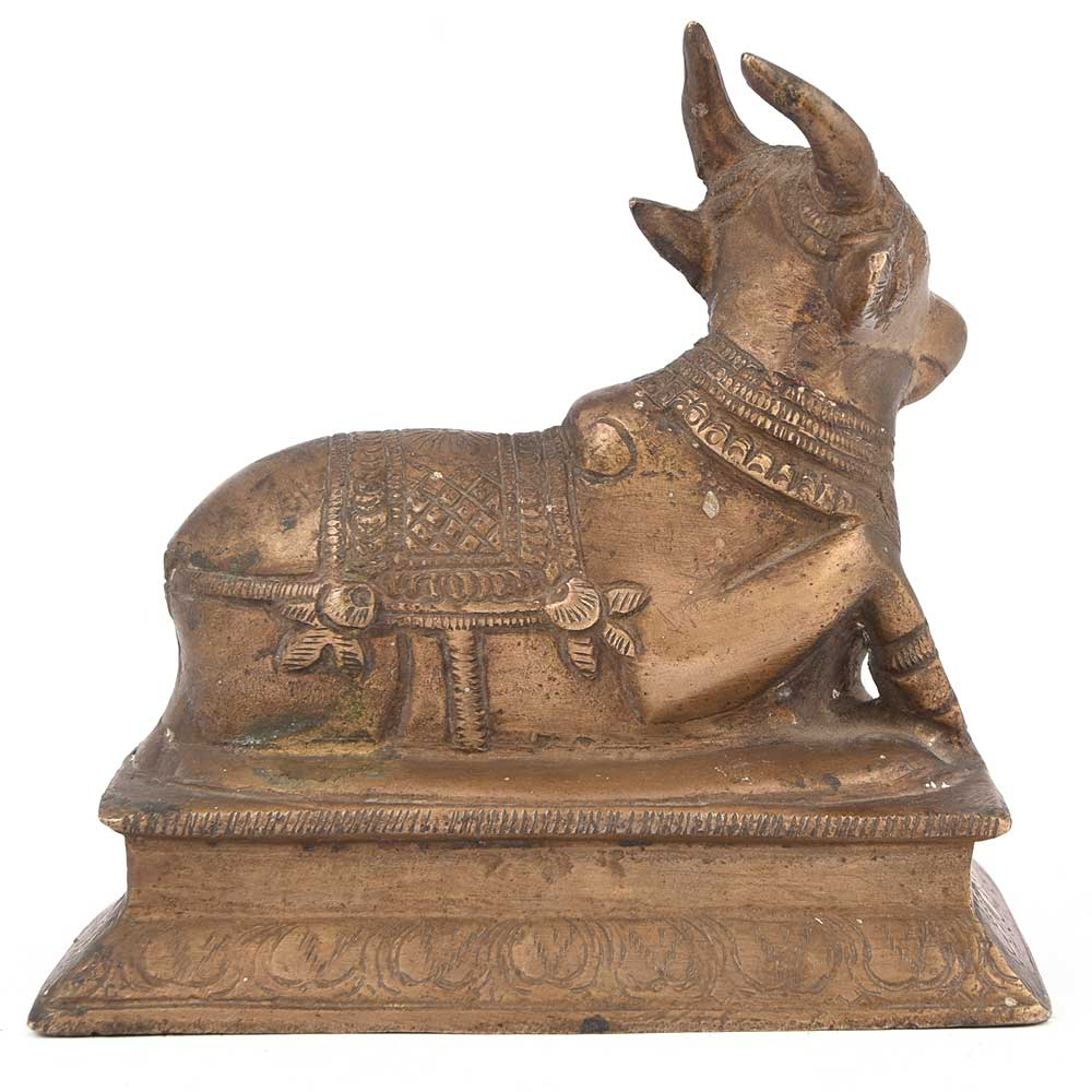 Brass Lord of Shiva Nandi Statue Figurine