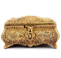 Brass Jewelry Casket Art Nouveau Style