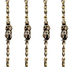 Swing Chain Set with Peacock and Dancing Lady Figurine(Set Of 4 Pieces)