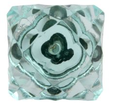 Water Glass Square Cut Drawer Knob