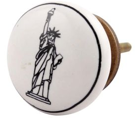 Statue Of Liberty Ceramic Knob