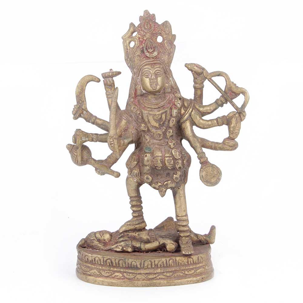 Brass Kali Goddess Statue