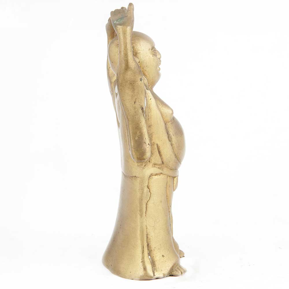 Brass Happy Man Standing Statue
