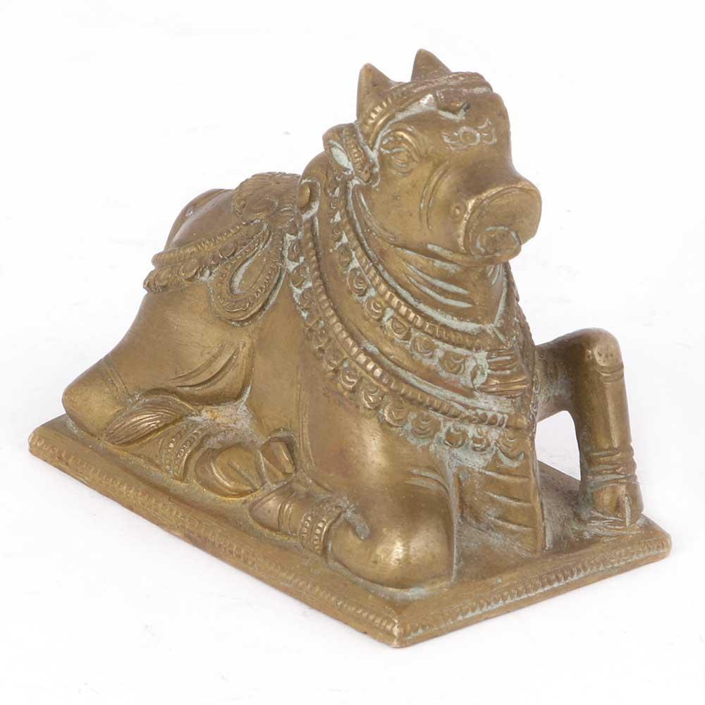 Brass Nandi Statue
