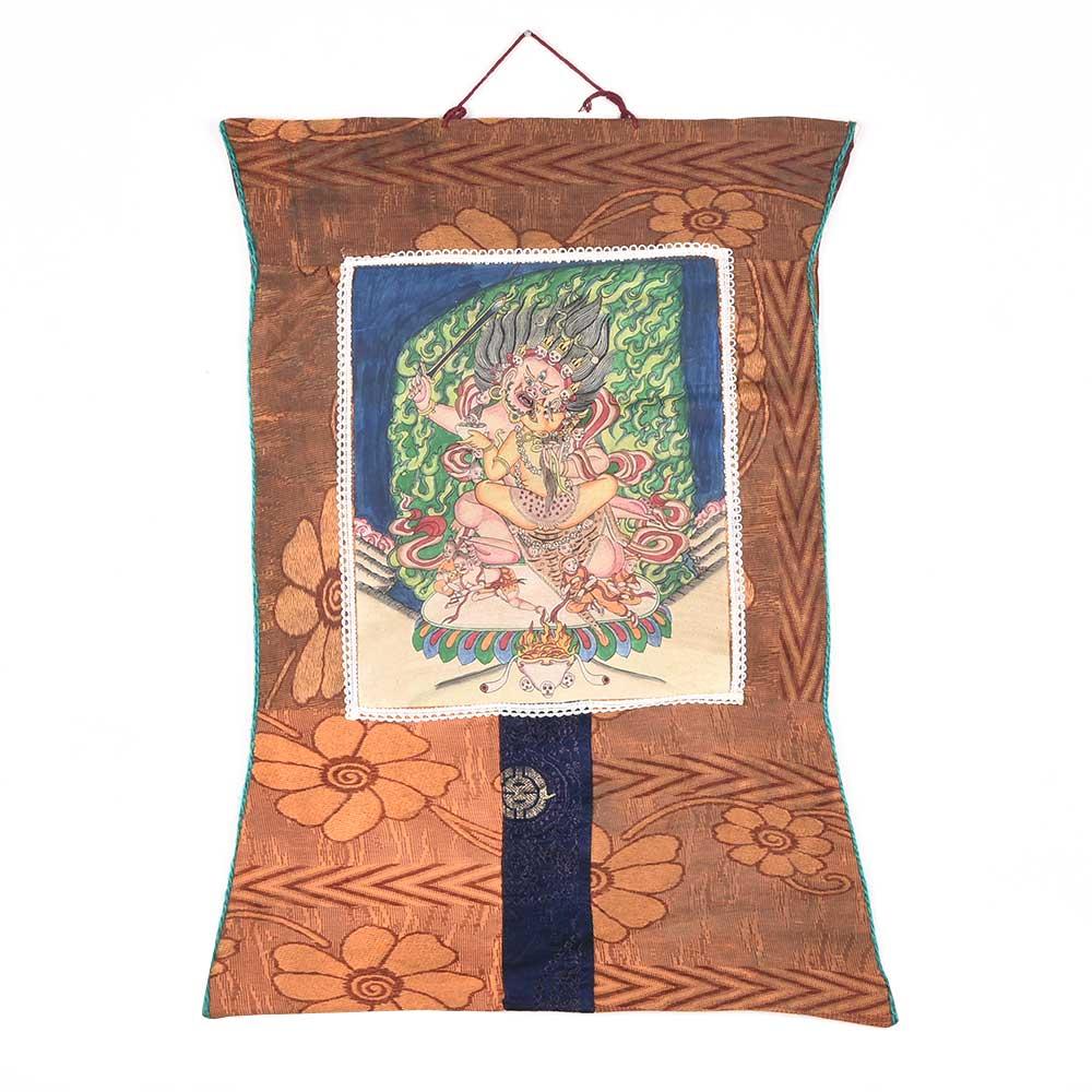 Tangka Painting Yamantaka Vajrabhairava Ekavira